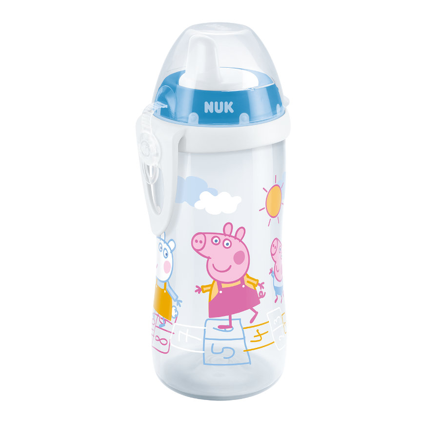 NUK Butelka Kiddy Cup - Świnka Peppa, 300ml, od 12 miesięcy