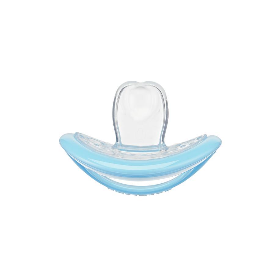 CURAPROX baby Schnuller Gr. 0 ab dem 0. Monat in pastell blau, single