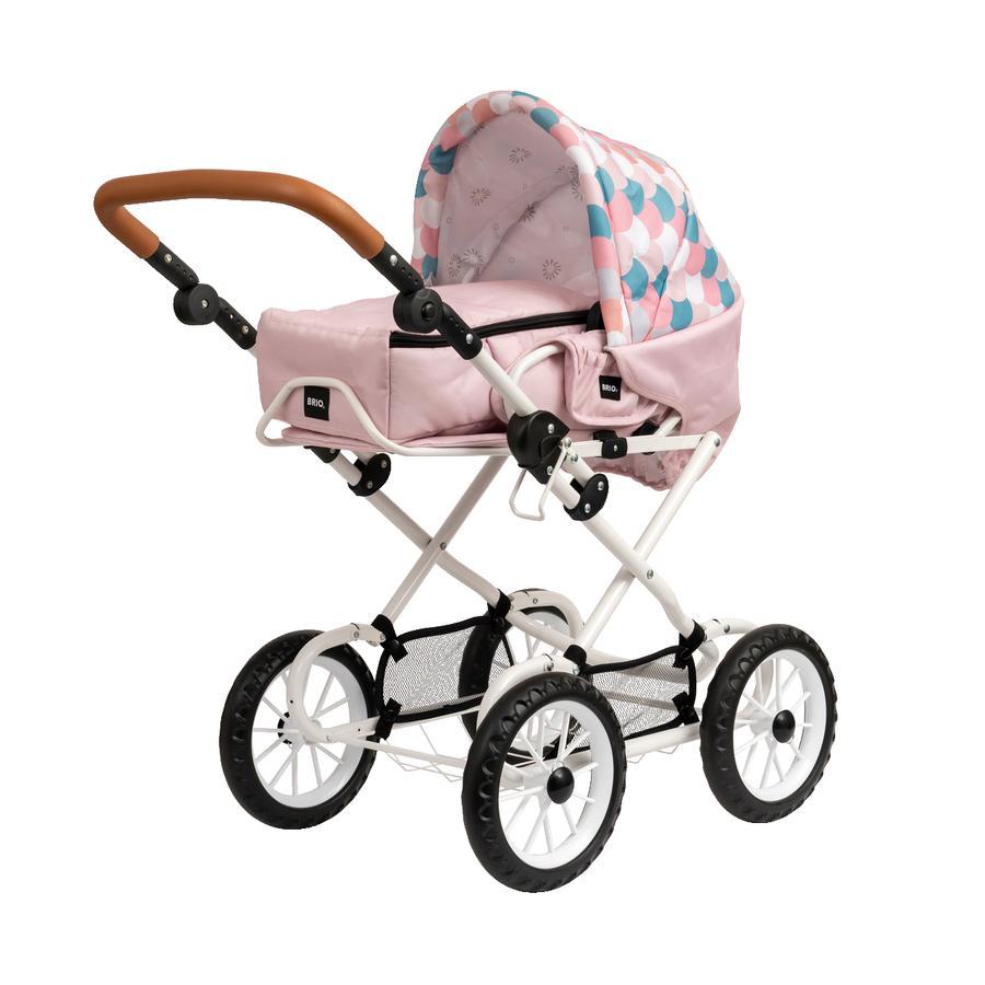 BRIO® Puppenwagen Combi, Soft Pink mit Tropfen
