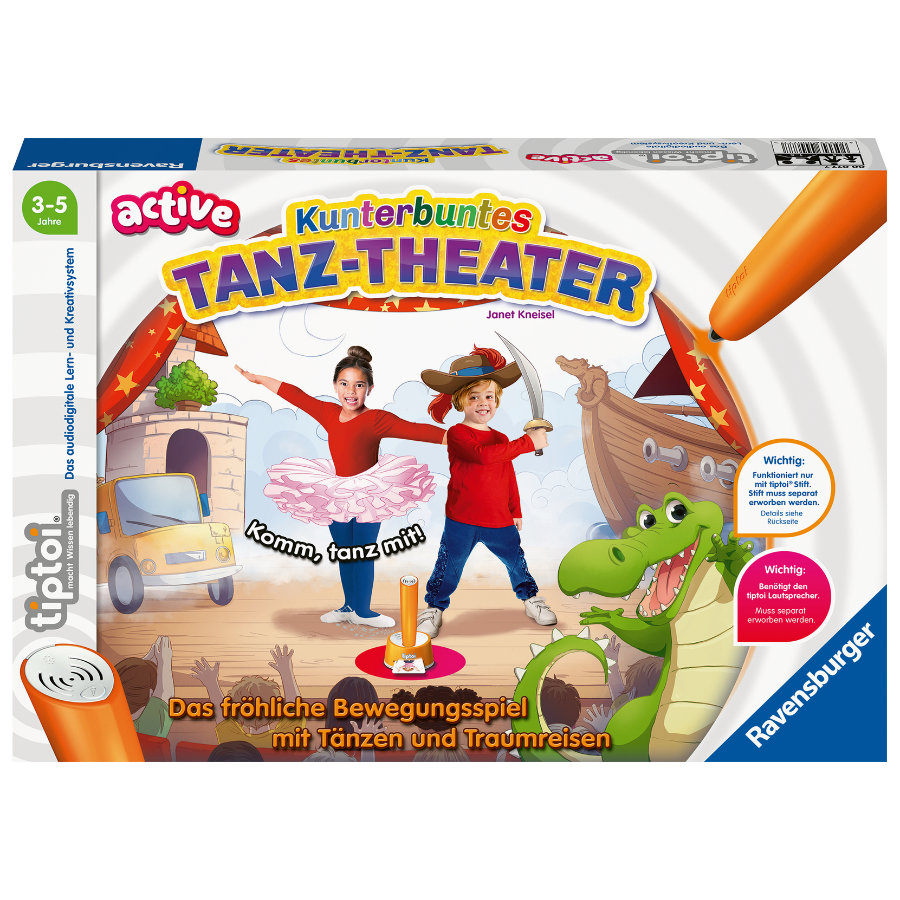 Ravensburger tiptoi® ACTIVE Kunterbuntes Tanz-Theater