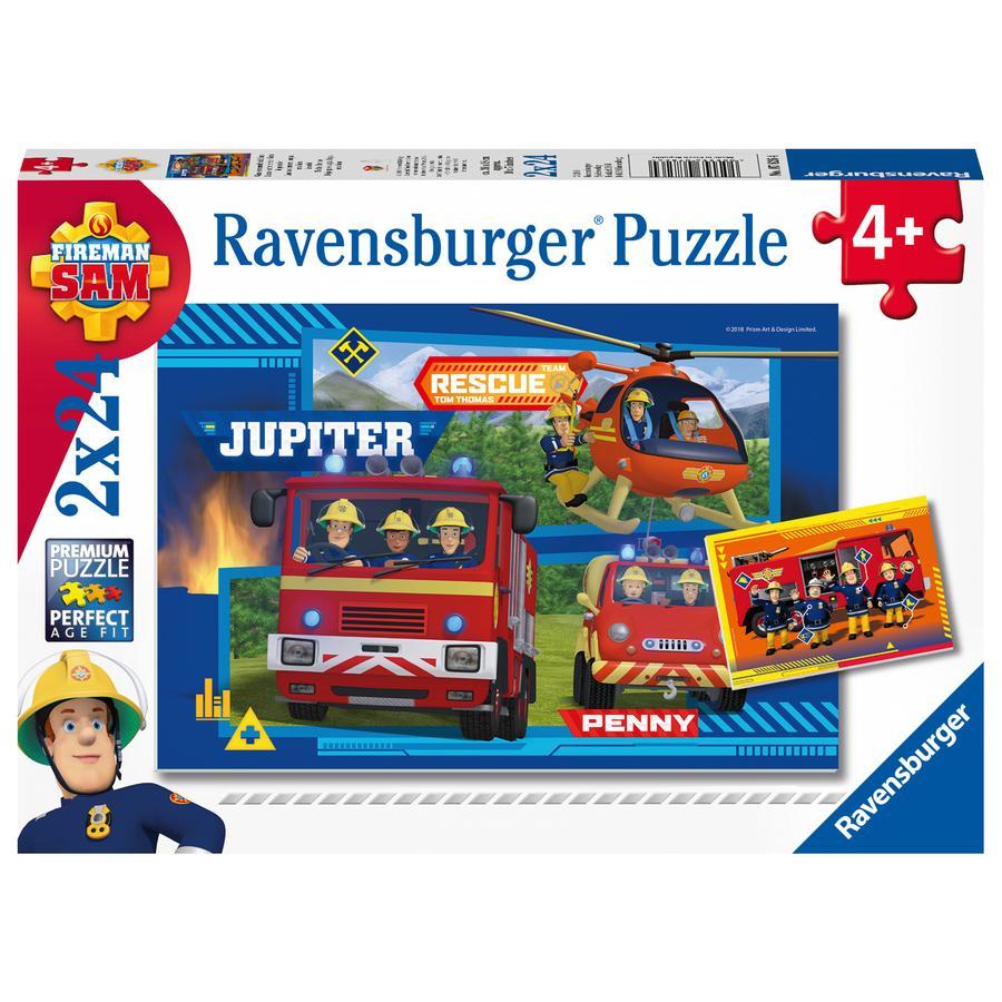 Ravensburger Puzzle 2x24 Wasser marsch mit Sam