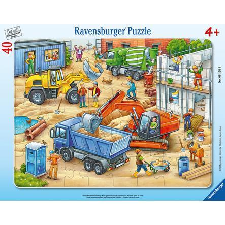 Ravensburger Rahmenpuzzle - Große Baustellenfahrzeuge, 40 Teile