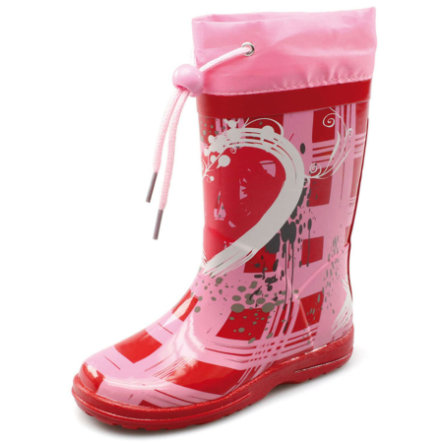 BECK Girls Gummistiefel HEARTBREAKER rot