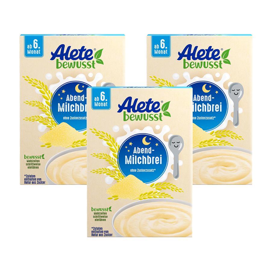 Alete Abend-Milchbrei 3 x 400 g ab dem 6. Monat