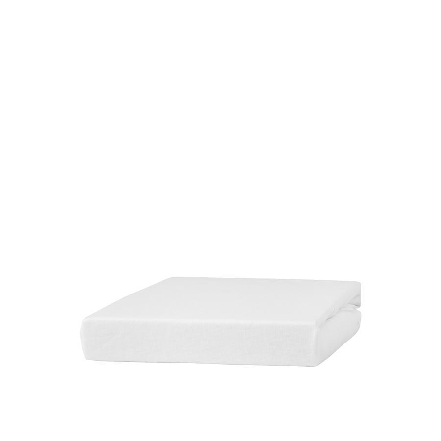 urra Drap housse de lit enfant Jersey blanc 70x140 cm