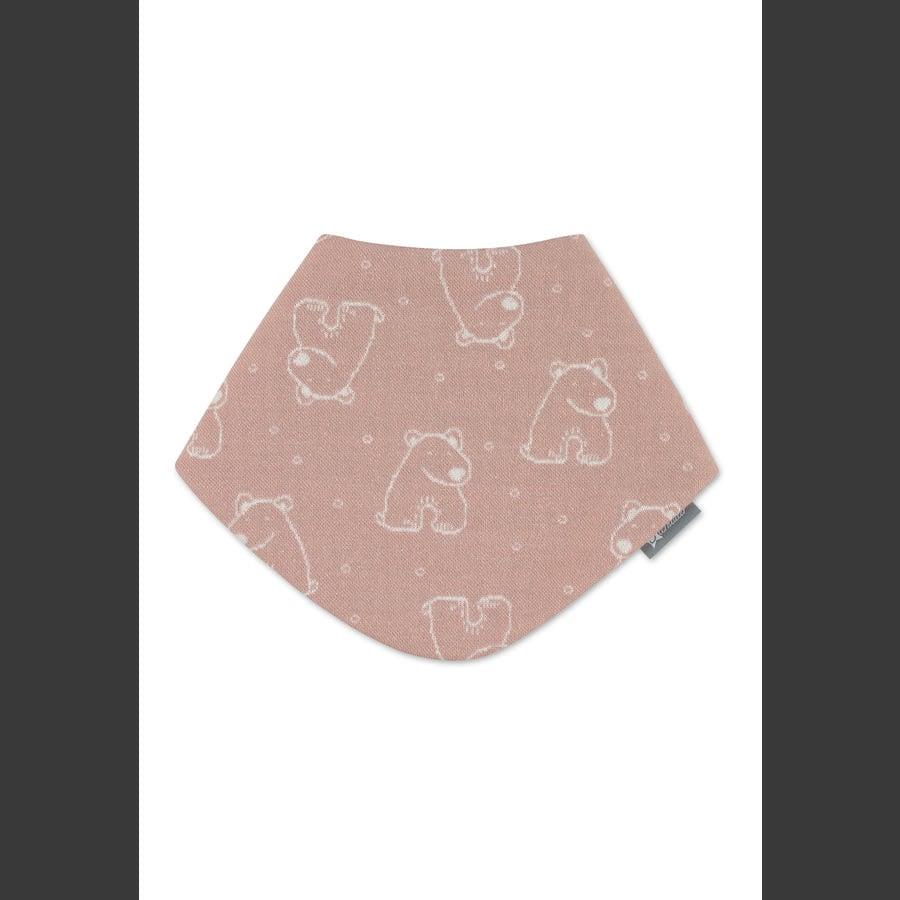 Sterntaler Szalik trójkątny różowy