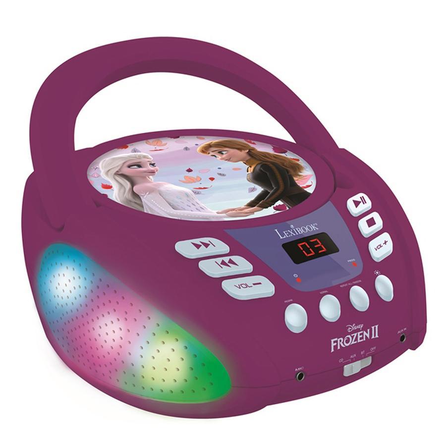 LEXIBOOK Lecteur CD Bluetooth Disney The Ice Princess avec connexion USB