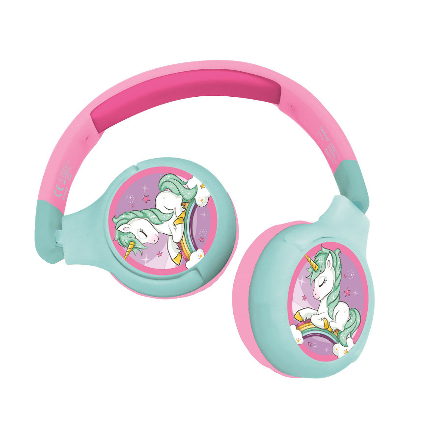 LEXIBOOK Yksisarvinen Bluetooth® 2 in 1 Taitettava kaapeli kuulokkeet lasten kanssa turvallinen 85db