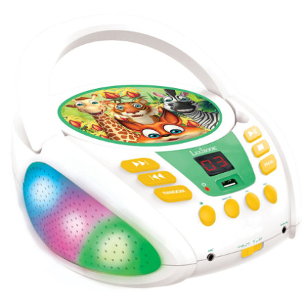 LEXIBOOK Tierfamilie Bluetooth CD-Player mit USB-Anschluss
