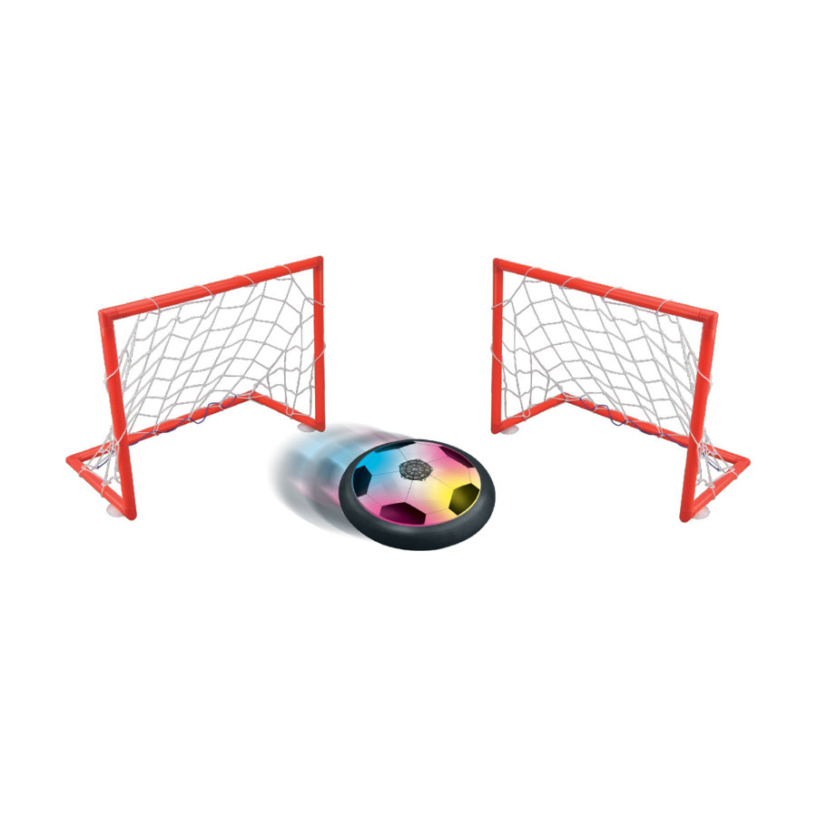 LEXIBOOK Aero Foot - Schwebende Fußballscheibe mit zwei Toren
