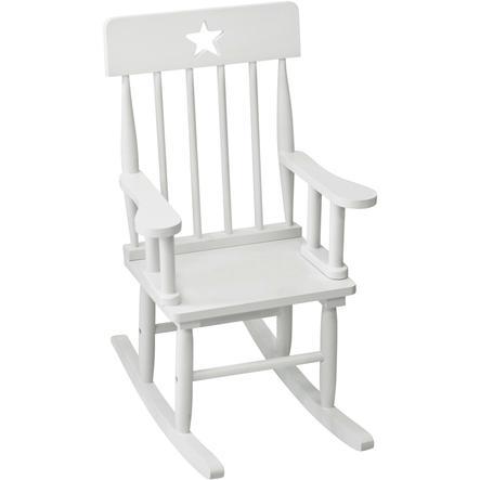 KIDS CONCEPT Krzesło bujane Star kolor biały