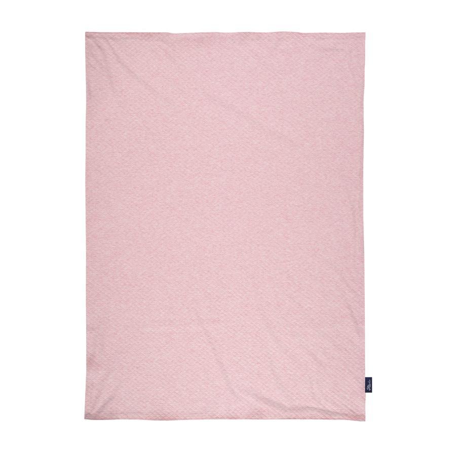 Alvi® Plaid enfant Jersey Special Fabric courtepointe rose 75x100 cm