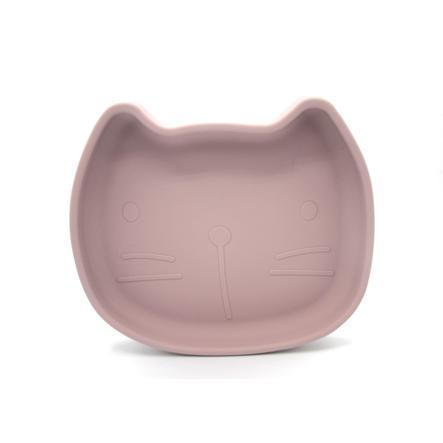 the cotton cloud Teller mit Saugfuss aus Silikon Pippa Dusty Pink