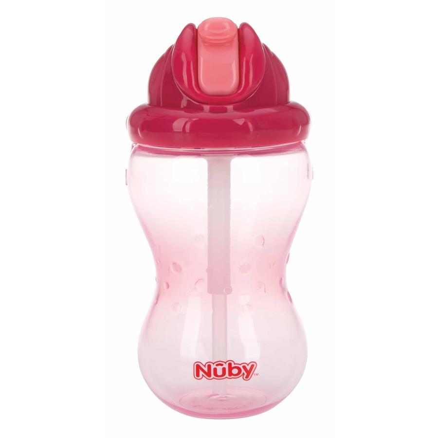 Nûby auslaufsichere Trinkhalmtasse Soft Flip-It 355 ml in pink