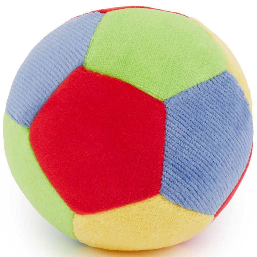 BIECO Baby bal van velours, 10 cm met belletje