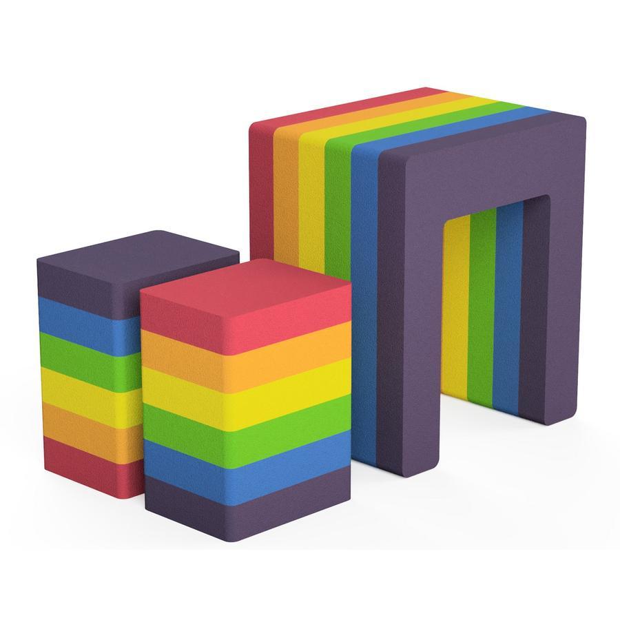 bObles® Rainbow Collection Viereckiger Regenbogen, bunt