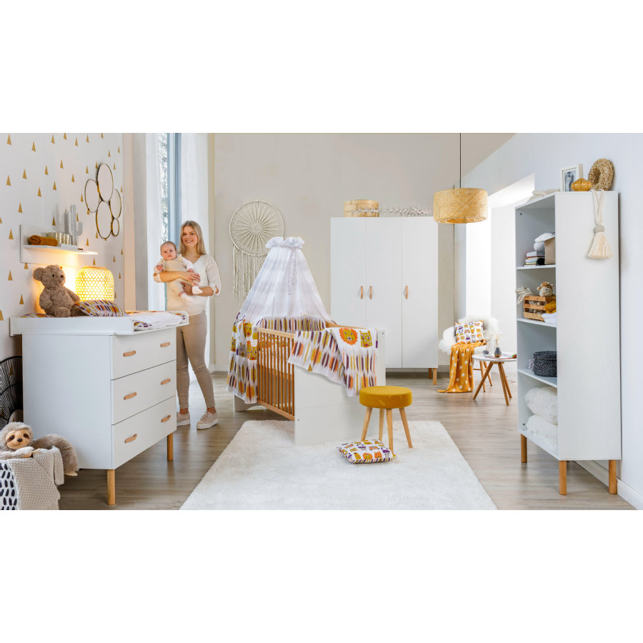 Schardt Kinderzimmer Melody White 3-türig
