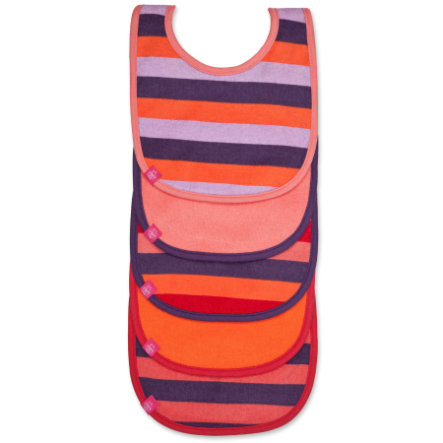 LÄSSIG bib value pack 3-24 Monate, Lätzchen striped multicolour girls, 5 pcs.