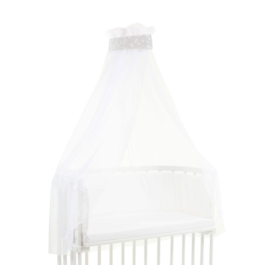babybay Ciel de lit Étoiles, blanc, 200 x 135 cm