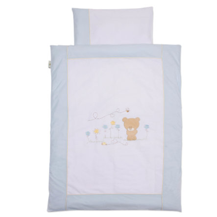 Easy Baby Draps de lit 100x135cm Honey bear bleu (410-41)