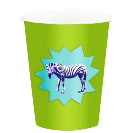 COPPENRATH Edition by Bohem - Partybekers Zebra - Lila & Blue