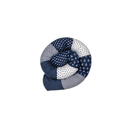 Ullenboom Baby-Bettschlange Anker Blau 200 cm