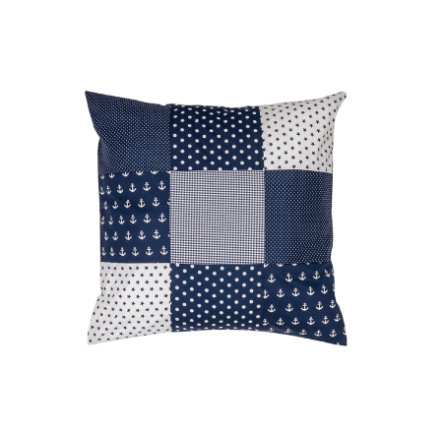 Ullenboom Patchwork Kissenbezug 60 x 60 cm Anker Blau