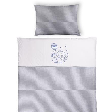 Einel Ložní prádlo navy melange pruhované 80 x 80 cm