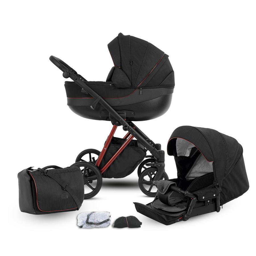 knorr-baby Kombikinderwagen YAP 11-teiliges Set Deluxe Red Schwarz
