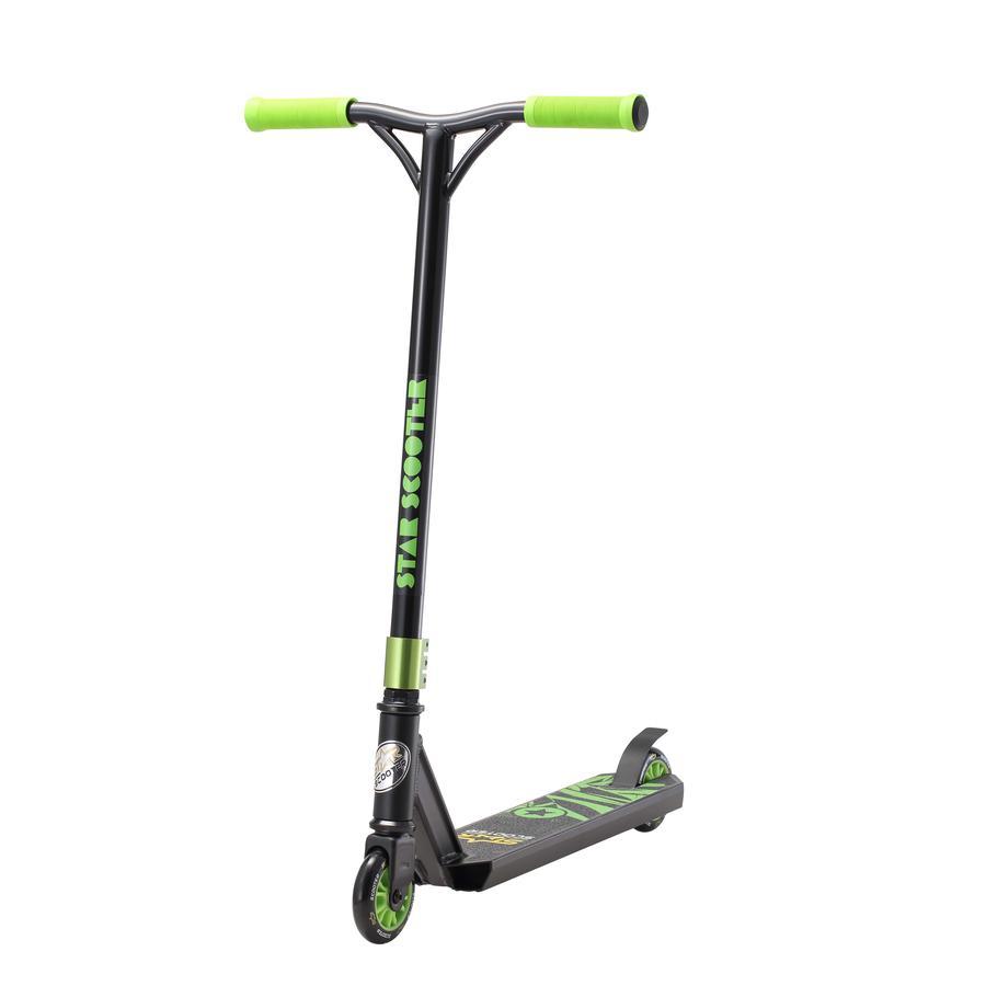 bikestar STAR-SCOOTER® Freestyle Jump Stuntscooter Advanced Entry Edition 100mm Schwarz (matt) & Grün