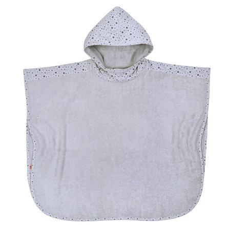 WÖRNER SÜDFROTTIER Poncho de baño de estrellas gris claro 60 x 75 cm