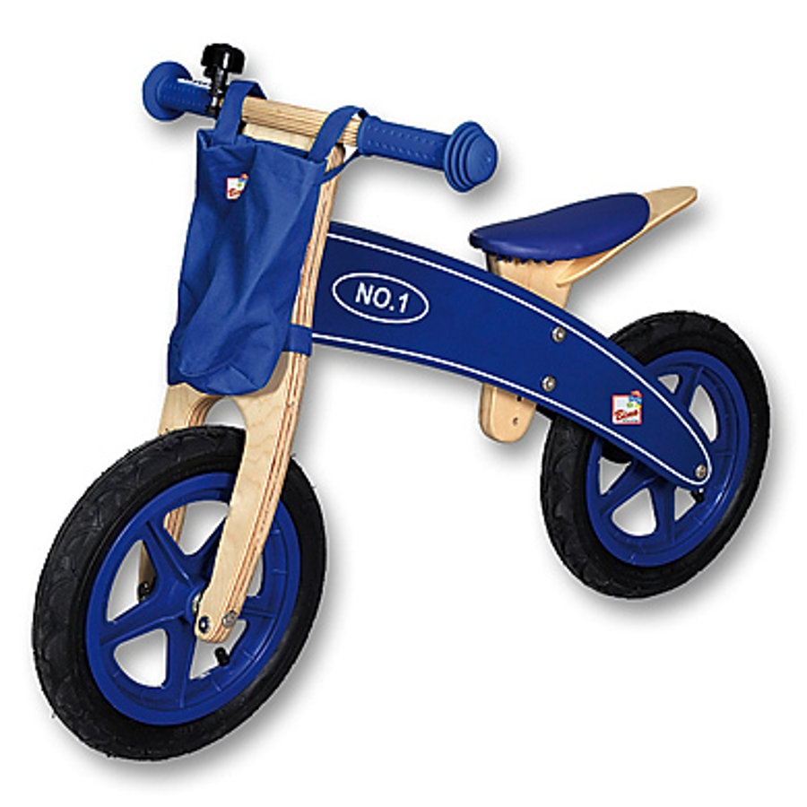 BINO Wooden Walker Bike, blue berry