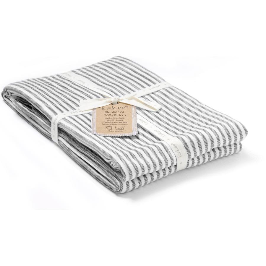 KipKep Serviette de bain enfant Blenker Smokey Grey 200x120 cm