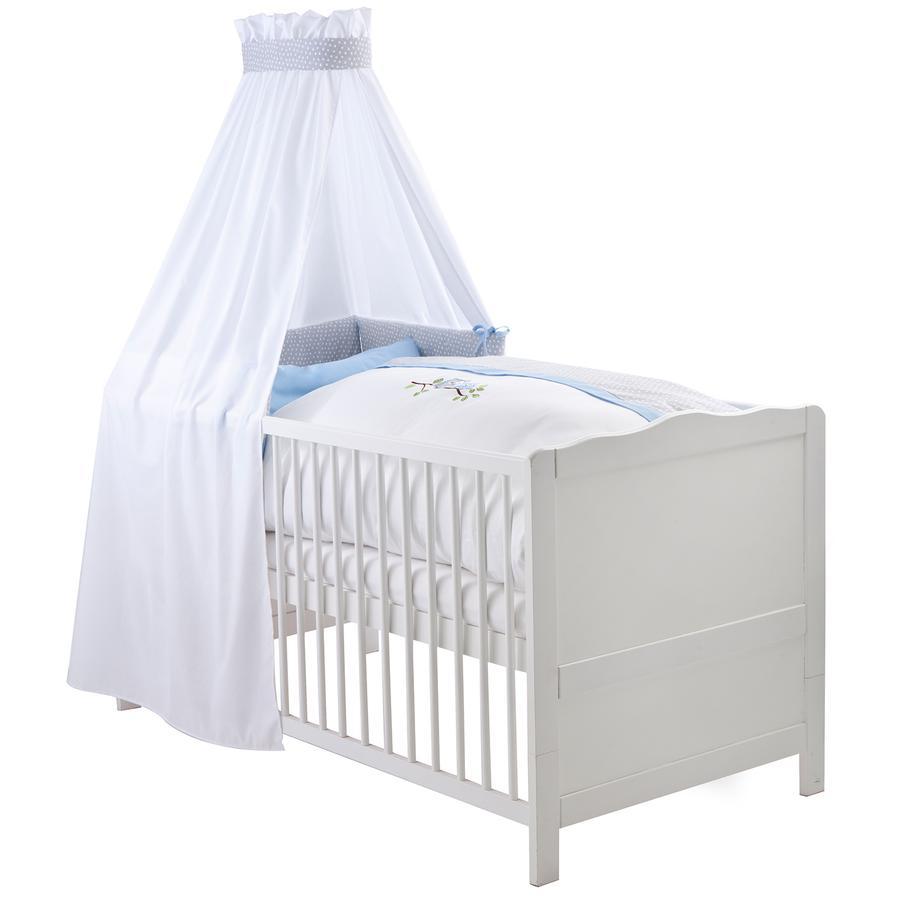 ZÖLLNER Bäddset med spjälsängsskydd och sänghimmel - Uggla