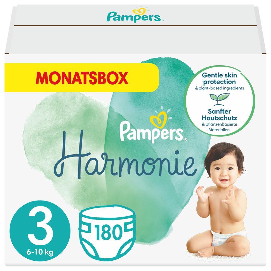 Pampers Harmonie størrelse 3 Midi 6 - 10 kg månedlig eske 180 bleier