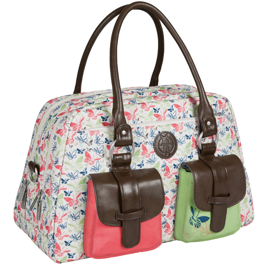 LAESSIG přebalovací taška Metro Bag Vintage Butterfly Spring