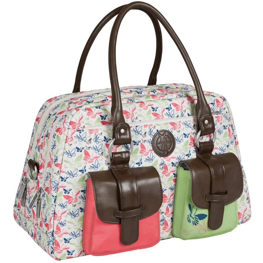 LÄSSIG Sac à langer Metro Bag Vintage Butterfly Spring