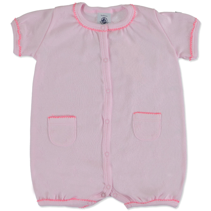 PETIT BATEAU Girls Baby Spací overal rosé
