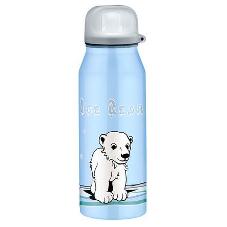 ALFI Trinkflasche ISO Bottle aus Edelstahl 0,35l Design Icebear, blau