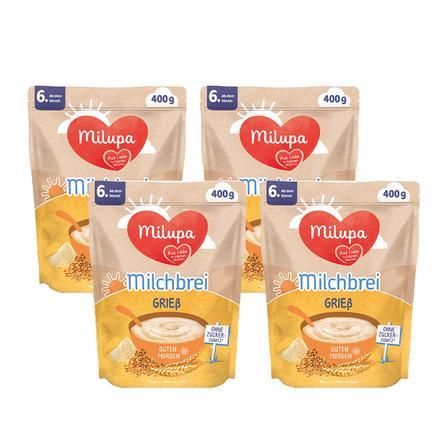 Milupa Milchbrei Grieß Guten Morgen 4 x 400 g ab dem 6. Monat