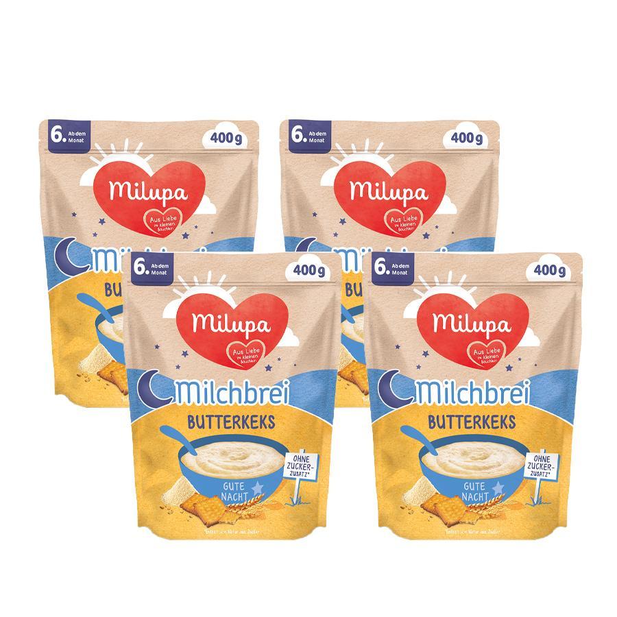 Milupa Milchbrei Butterkeks Gute Nacht 4 x 400 g ab dem 6. Monat