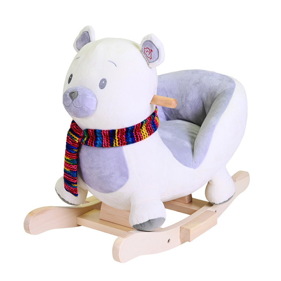 knorr® toys Animal à bascule ours polaire Fred bois