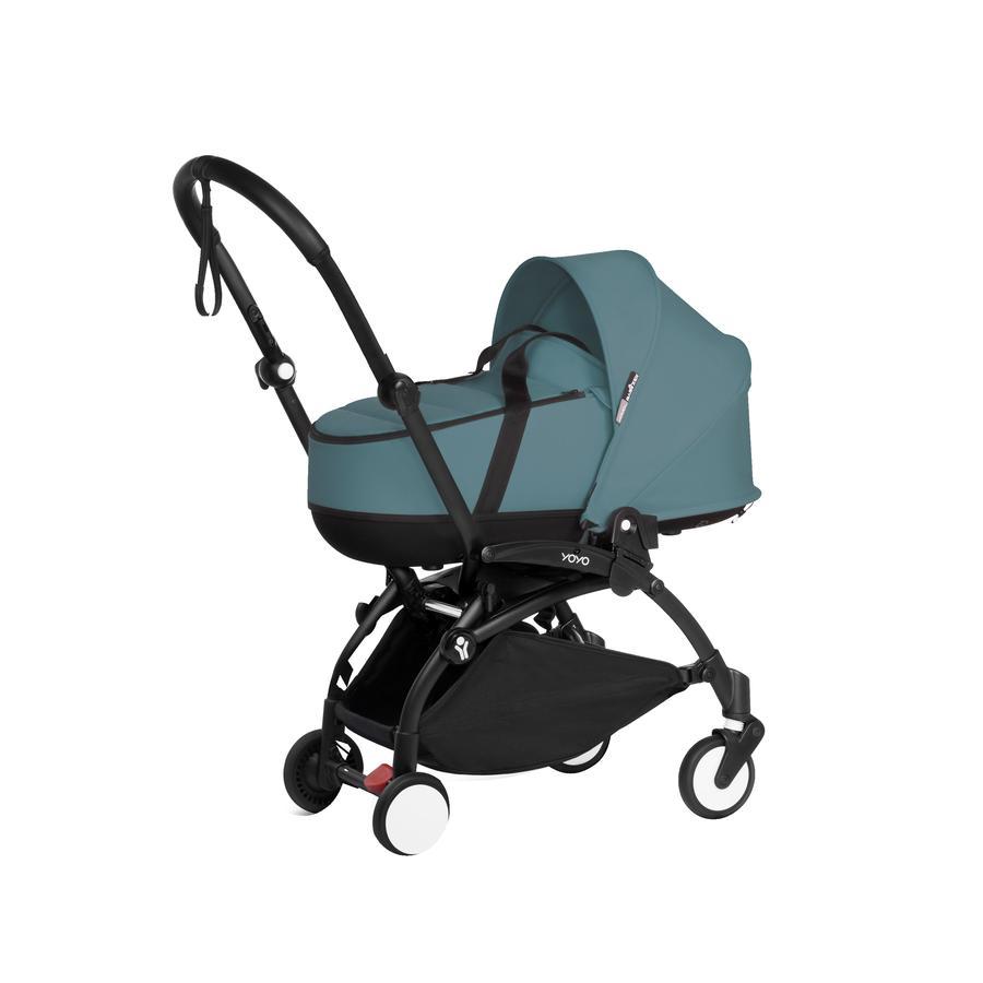 BABYZEN Kinderwagen YOYO2 0+ met reiswieg Black /Aqua