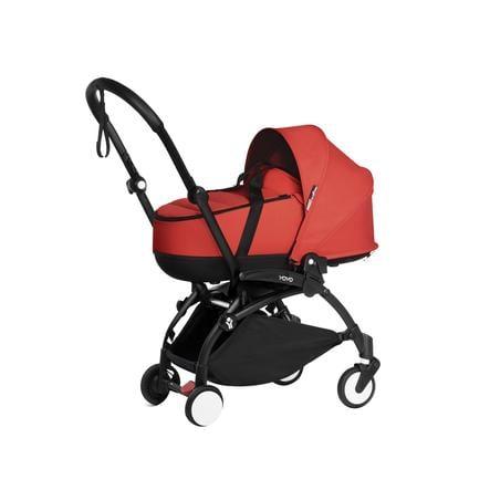 BABYZEN Kinderwagen YOYO2 0+ mit Liegewanne Black/Red