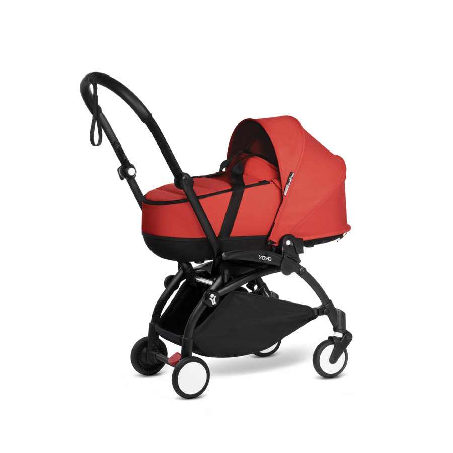 BABYZEN Poussette naissance avec nacelle YOYO2 0+ black/red