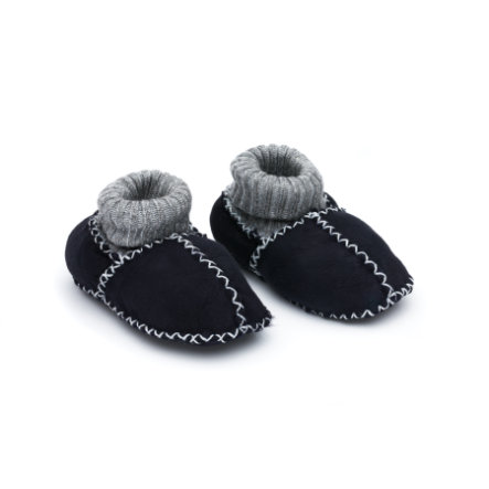 fillikid  Chaussures en cuir d'agneau pour bébé marine