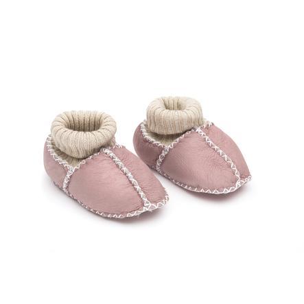 fillikid  Chaussures bébé en cuir d'agneau rose