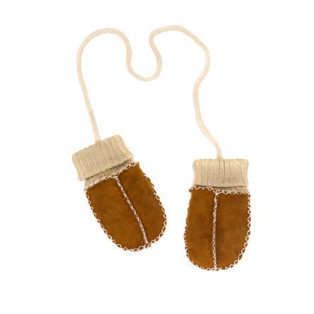 fillikid  Manoplas de piel de cordero para bebés marrón