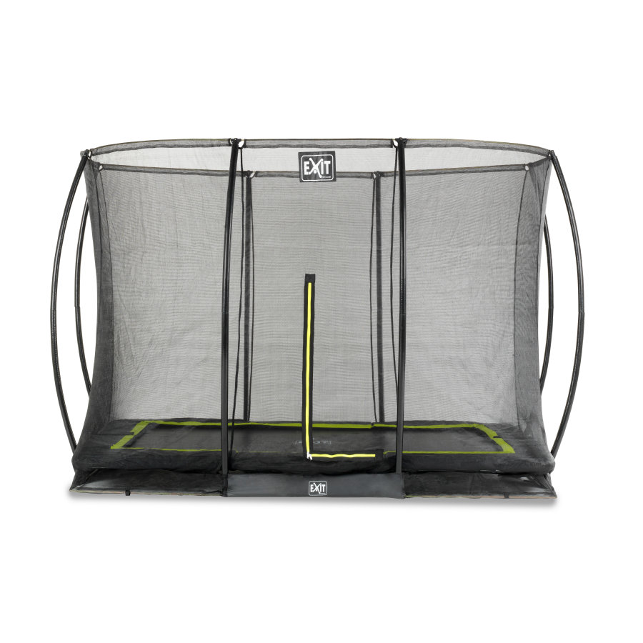 EXIT Trampolin Silhouette Bodentrampolin 214x305 cm mit Sicherheitsnetz - schwarz
