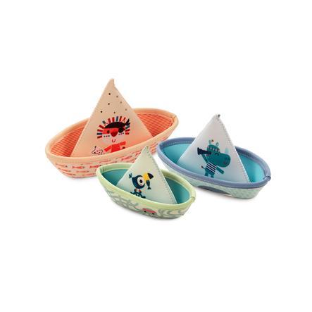 Lilliputiens Badespiel drei Boote Neopren dreiteilig
